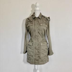 J Crew XS oversize khaki utility jacket